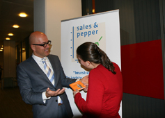 Boekuitreiking Peppertalk bij VNU exhibitions